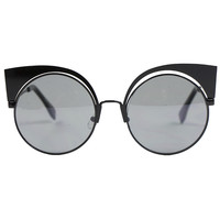 BROW BLACK SUNGLASSES