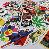 100 pcs Mixed funny hit  stickers 4 kinds for kids Home decor jdm on laptop  decal fridge skateboard doodle stickers toy