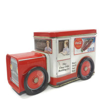 Vintage Coca Cola Delivery Truck Tin, Decorative Tin, Kitchen, Coke Collectible Advertising, Metal Container, Storage Stash Box, Canister