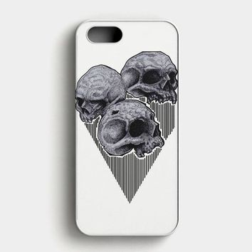 Skull Wooden iPhone SE Case