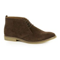 Brown Faux Suede Chukka Boots - Men's Boots - Shoes and Accessories