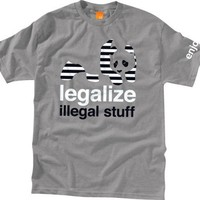 Enjoi Legalize It Xlarge Athletic Heather Short Sleeve