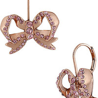 BetseyJohnson.com - ROSE GOLD BOW DROP EARRING ROSE GOLD