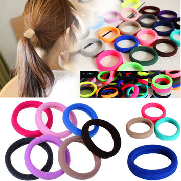 20Pieces Colorful Elastic Rope Ring Hairband Women Girls Ponytail Holder Hair Band