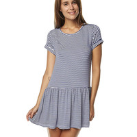 MINKPINK SPLIT SECOND WOMENS TEE DRESS - NAVY WHITE