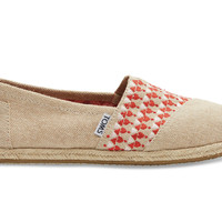 TOMS Red Embroidery Women's Classics Red