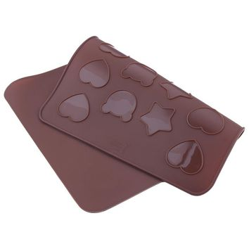 Food Grade Heart-shaped Stars  Bear Macaron mat Cartoon Macaroons Mat Baking Mold Soap Chocolate Mould Fondant Kitchen Utensils