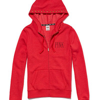 Funnelneck Perfect Zip Hoodie - PINK - Victoria's Secret
