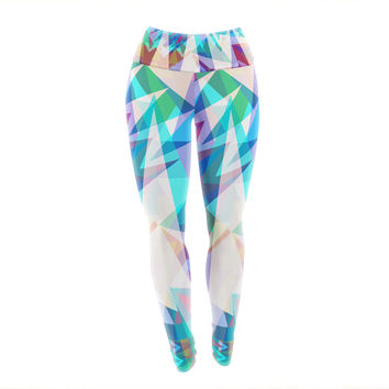 "Miranda Mol ""Triangle Party"" Multicolor Yoga Leggings"