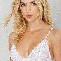 Lacy Stardust Lace Bra - White