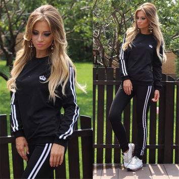 Sexy Ladies Casual Hot Sale Sportswear Set [4918574212]