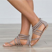 Gladiator Cross Tied Sandals