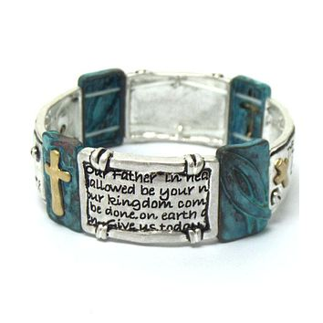 The Lord's Prayer Religious Stretch Bracelet