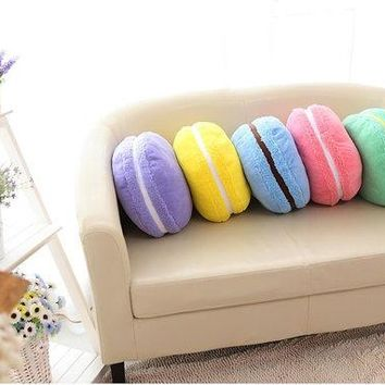 Macaron Kawaii Plushie Plush Pillow   Cute   Chocolate Flavor!