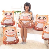Kawaii Sankaku Head Himouto Umaru Chan Umaru Doma Cosplay MARMOT Velvet Puppets And Humanoid Plush Stuffed Animal Kids Toys Doll