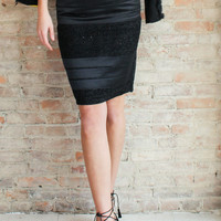 Elsie Pencil Skirt - Black