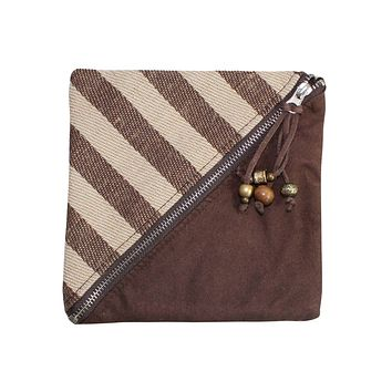 Diagonal Zip Coin Purse