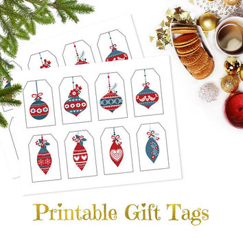 Christmas gift tags printable, Christmas tags for presents, Hanging holiday gift tags, DIY Christmas gift tags template, Christmas labels