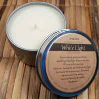 White Light Source Energy Candle - Connect With Source, White Light for Healing & Protection on Your Spiritual Journey to Enlightenment
