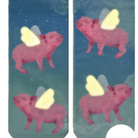 When Pigs Fly Ankle Socks