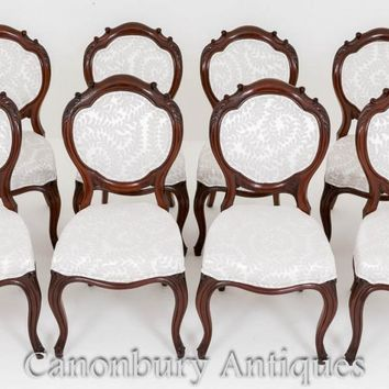Canonbury - Set Victorian Dining Chairs - Mahogany 8 Chair 1860
