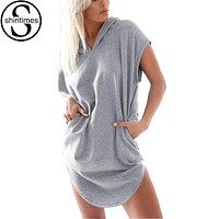 Hooded Short Sleeve Summer Tops FREE SHIPPING!!!
