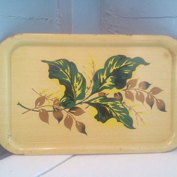 Vintage, Decorative Metal Tray, T.V. Tray, Breakfast Tray, Serving Tray