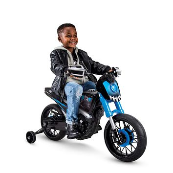 Kids Toddler 6V Battery Operated Powered Electric Ride On Black Panther Motorcycle Bike