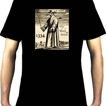 The Black Death Plague Men's T-Shirt 1334 Grim Reaper Mask