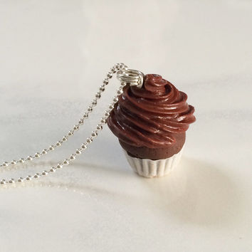 Double Chocolate Cupcake Necklace