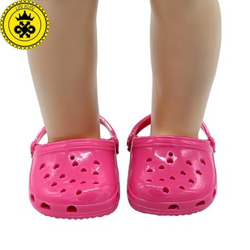 American Girl Doll Shoes Fits 18 inch Doll 4 Colors Sandals Hollow Doll Accessories xie539