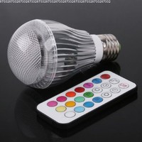 Colorful LED RGB 9W E27 Light Bulb Lamp with Remote Control:Amazon:Home Improvement