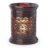 Candle Warmers Etc. Chevron Illumination Candle Warmer (Brown)