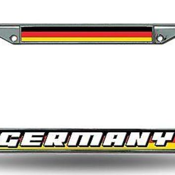 FIFA Germany Chrome Metal License Plate Frame Cover World Cup Soccer Football