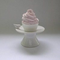 Ceramic Cupcake Stand with Bird