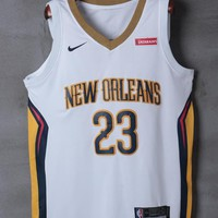 New Orleans Pelicans #23 Anthony Davis White Swingman Jersey