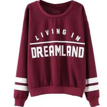 Causal Letter Printed Sweater  B0014084