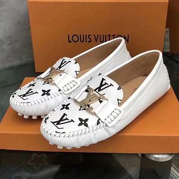 LV Louis Vuitton Slip-On Women Fashion Flats Shoes