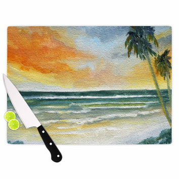 "Rosie Brown ""End of Day"" Beach Cutting Board"