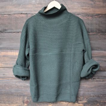 bella knit sweater - hunter green
