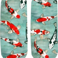 Koi pond Ankle socks