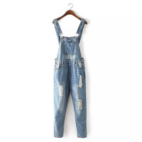 Women's Fashion Stylish Casual Denim A4 Size Romper [4919624772]