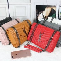 One-nice™ YSL Women Shopping Leather Metal Chain Crossbody Satchel Shoulder Bag(6-Color) I-MYJSY-BB
