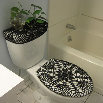 Set Of 2 Crochet Covers For Toilet Seat