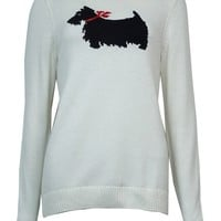 Charter Club Women's Button-Trim Scottie Dog Sweater