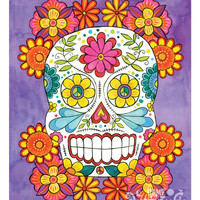 Day of the Dead Sugar Skull - 11 x 14 print