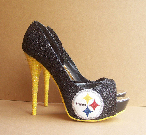 Pittsburgh Steelers High Heels By From Tattooedmary On Etsy