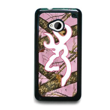 CAMO BROWNING PINK HTC One M7 Case Cover