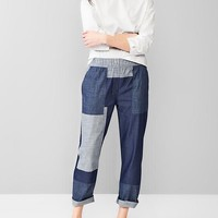 Patchwork Jogger Pants