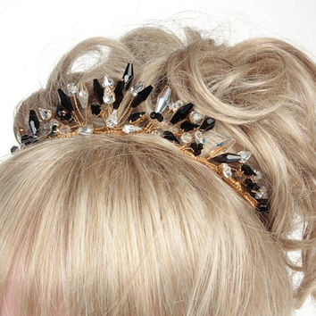Wedding Tiara, Bridal Tiara, Black Tiaras, Tiaras Foir Weddings, Tiaras For Brides